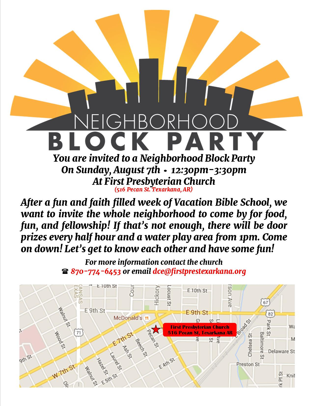 Block Party | First Presbyterian Church