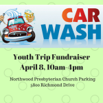 Youth Trip FundraiserApril 8, 10am-4pm